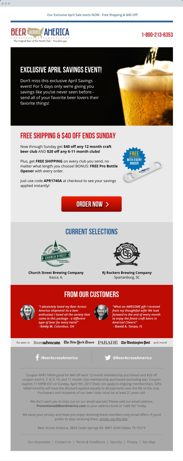Beer America Responsive Email Design