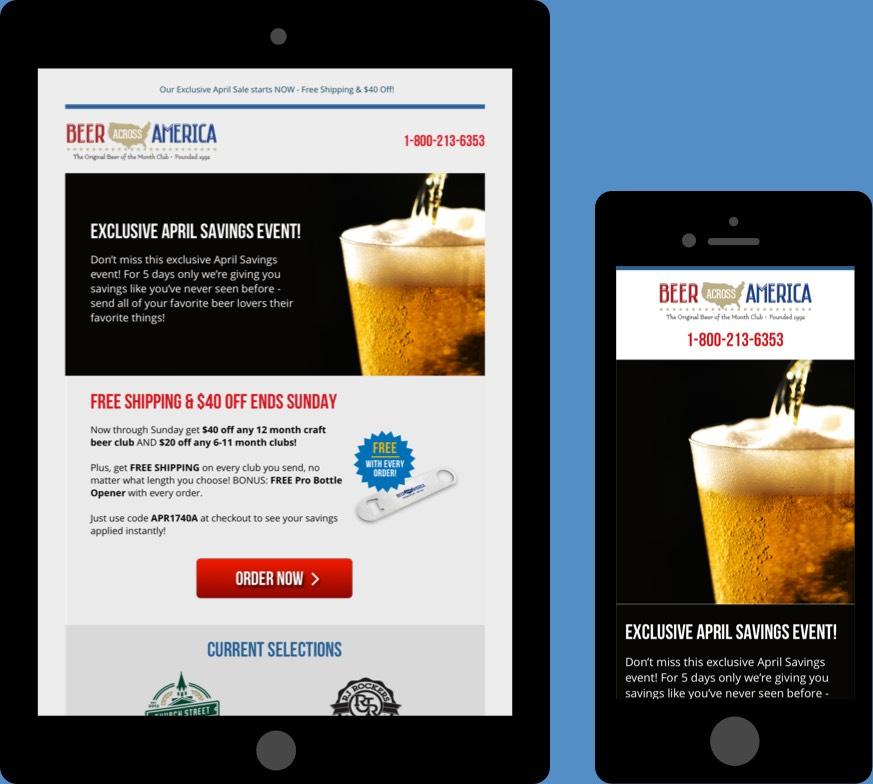 Beer America Responsive Email Design