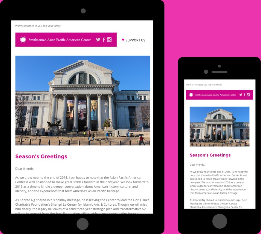 Smithsonian Responsive Email Design